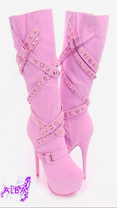 cool New Suede Women Sequin High Heel Boots High Heels Boots, Pink High Heels, Heeled Boots, Shoes Heels, Dream Shoes, Crazy Shoes, Me Too Shoes, Pretty Shoes, Beautiful Shoes