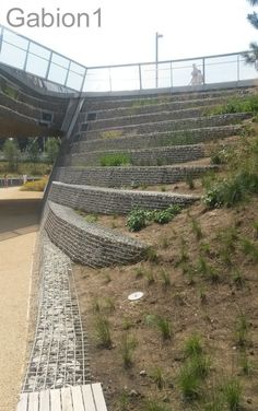 terraced gabion wall in London http://www.gabion1.co.uk