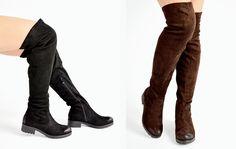 Μπότες Over the Knee σε Suede www.luigi.com.gr