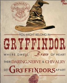 Buy Harry Potter: Sorting Hat Gryffindor - Wall Art online and save! When the Sorting Hat is in charge, you don't have many choices. Pledge your allegiance to Gryffindor with this Harry Potter Sorting Hat Gryffindor Mig. Harry James Potter, Harry Potter World, Harry Potter Casas, Estilo Harry Potter, Harry Potter Fiesta, Mundo Harry Potter, Harry Potter Quotes, Harry Potter Books, Harry Potter Fandom