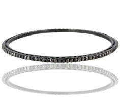 AMAZING 3.5ct Diamond Pave Sleek Bangle Sterling Silver Vintage Look Jewelry NEW #Handmade #Bangle