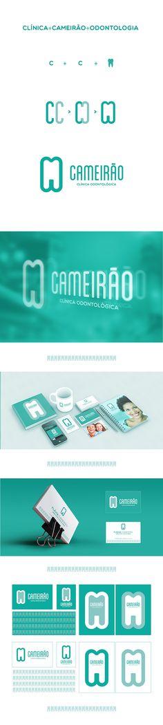 CLÍNICA CAMEIRÃO DE ODONTOLOGIA - Branding on Behance Graphic Design Studios, Graphic Design Branding, Identity Design, Visual Identity, Logo Design, Branding And Packaging, Corporate Branding, Logo Branding, Packaging Design