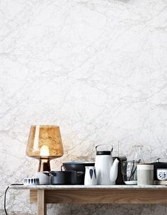 Kitchen blues - via Coco Lapine Design I love the marble My Home Design, House Design, Kitchen Interior, Interior And Exterior, Interior Styling, Interior Design, Wood Interiors, Home Projects, Furniture Decor
