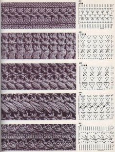 "Best 12 The book crochet patterns"" / 285 photos / . Discussion on LiveInternet – Russian Service Online Diaries – SkillOfKing. Crochet Diagram, Crochet Stitches Patterns, Crochet Chart, Crochet Basics, Crochet Motif, Diy Crochet, Knitting Stitches, Knitting Patterns, Vintage Crochet Patterns"