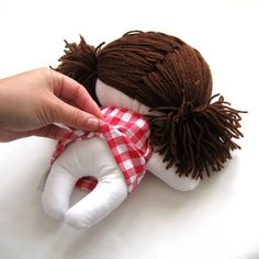 Rag doll toy baby girl kid kids handmade cuddly by ZazoMini