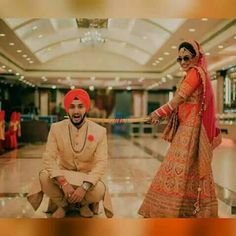 With the Firm and Prosperous hands of GOD, Marriages are made in Heaven; still there are Some efforts and formalities t. Pakistani Wedding Outfits, Sikh Wedding, Punjabi Wedding, Wedding Men, Wedding Pics, Wedding Couples, Wedding Goals, Punjabi Couple, Punjabi Bride