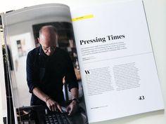 Editorial design of Lagom Magazine Issue #1