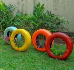 Como usar pneus na decoração. #decoração #casa