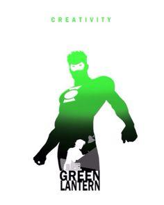 Green Lantern -  by Steve Garcia... never actually seen creativity from Green Lantern.