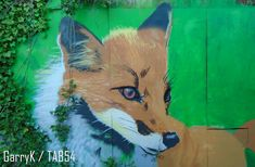 Urban Art a la cARTe: Street Art by Beastie (11) Art Uk, 2017 Photos, Gloucester, Urban Art, Animal Kingdom, Street Art, Fox, Painting, Animals