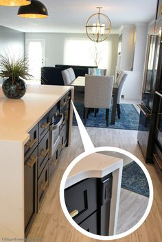 Hiding electrical outlets on an island, low profile fits ...
