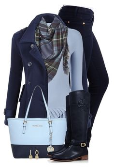 #2698 winter blues by sherri-leger on Polyvore featuring polyvore, fashion, style, Emporio Armani, LE3NO, 7 For All Mankind, Tory Burch, MICHAEL Michael Kors, Anne Sisteron, Apt. 9 and clothing