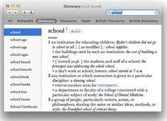 OS X Dictionary - integrácia slovníka s Mac OS X Mac Os, School