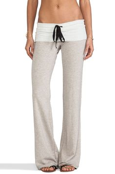 Tylie Wide Leg French Terry Sweatpant in Oat | REVOLVE