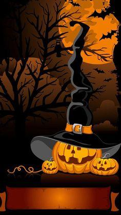 hat pumpkin tap to see more cute halloween wallpaper