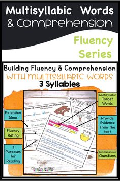 Decoding multisyllabic word activities with fluency passages that build comprehension
