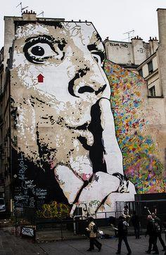 Paris Street Art by Jef Aerosol http://restreet.altervista.org/i-ritratti-iconici-di-jef-aerosol/