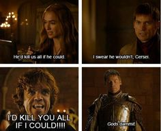 "Sibling trouble. | 25 Things Only ""Game Of Thrones"" Fans Will Find Funny"