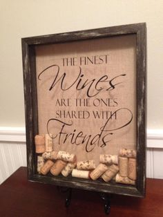 Black Rustic Finish Wine Cork Holder Display by TheVelcroDog, $34.50