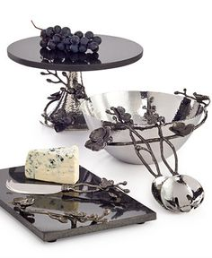 Michael Aram Black Orchid Serveware Collection - Can't talk enough about his style. Soooo pricey, but if we ever can baby