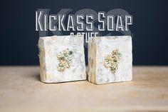 TWO 4 oz Kickass Blossom Babe Soaps by KickassSoap on Etsy