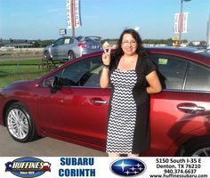 https://flic.kr/p/J3w7xe | Happy Anniversary to Lupita on your #Subaru #Impreza Sedan from Bill Klozik at Huffines Subaru Corinth! | deliverymaxx.com/DealerReviews.aspx?DealerCode=XDJB