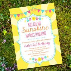You are My Sunshine Party Invitation Yellow  by SunshineParties.....so beautiful!