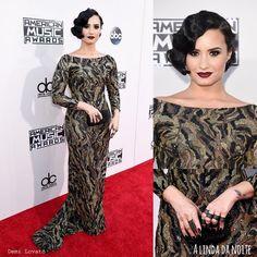 Os looks das famosas no American Music Awards