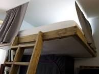 Image result for how to suspended loft bed
