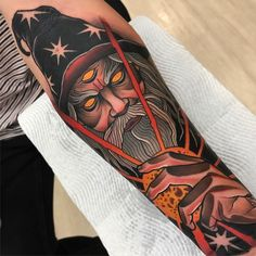 Neo Traditional Art, Traditional Tattoo Design, Traditional Sleeve, Traditional Tattoos, American Traditional, Sweet Tattoos, Black Ink Tattoos, Wolf Tattoos, Tattoos For Guys