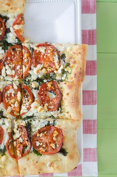 Roasted Tomato, Kale, and Feta Pizza by Pink Parsley