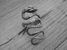 Vintage Silver Snake Ring Wrap Around Serpent Ring Snake Jewelry Gothic Goth Punk Rock n Roll Rocker Rock and Roll Heavy Metal