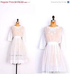 SALE... Vintage Edwardian Dress / 1910s Sheer by lapoubellevintage