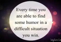Laugh a little.
