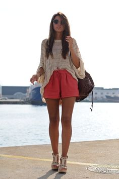 i don't like pink, but i want these shorts. #style