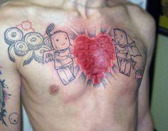 Lego ink Lego Tattoo, I Tattoo, Watercolor Tattoo, Tatting, Swag, Ink, Board, Bobbin Lace, India Ink