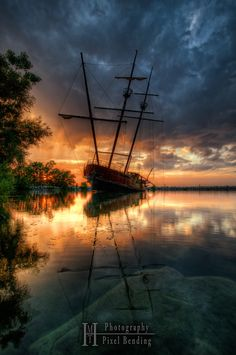 Ghost ship or Jordan Harbour by MHT_Photography  on 500px