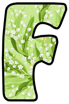 Alphabet, Sailor Mars, Lily Of The Valley, Bubbles, Clip Art, Scrapbook, Green, Monogram, Board