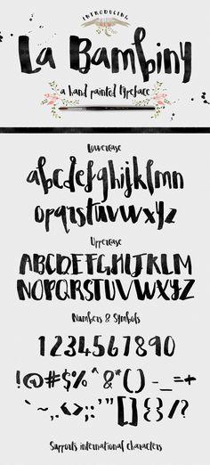 La Bambiny Typeface by Creativeqube Design on Creative Market