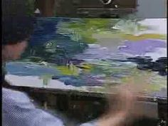 Allen Montague Finger Painting  Showing children that finger painting is not only child's play.