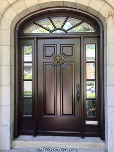 Modern Entrance Door, Main Entrance Door Design, Wooden Front Door Design, Door Gate Design, House Gate Design, Wood Front Doors, The Doors, Custom Wood Doors, Wooden Doors