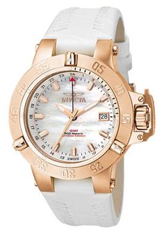 $499.00  Invicta Women's Subaqua/Noma III GMT White Leather F0032  Sporting a trendy style, this Invicta has a versatile design that achieves the perfect mixture of contemporary and class.