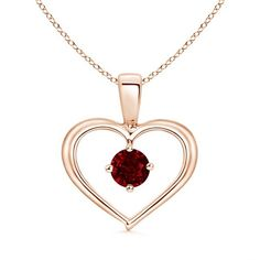 Solitaire Ruby Open Heart Pendant ($709) ❤ liked on Polyvore featuring jewelry, pendants, 14k pendant, open heart jewelry, glitter jewelry, 14k jewelry and heart shaped jewelry