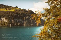 Magic Autumn Mood at Lake Lucerne by franzengels  autumn landscape lake switzerland travel beautiful gallery colorful landscape photography Herbst Bru
