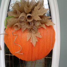Faux Pumpkins, Fall Wreaths, Burlap Wreath, Centerpieces, Fall Winter, Crafting, Football, Inspiration, Soccer