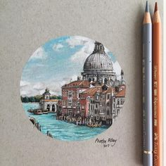 GIVEAWAY: Venice, Italy  For a chance to own this pen and coloured pencil illustration, simply leave a comment with your dream 'city break' location. Anyone can enter, shipping is worldwide and free! You have until 14:00 Friday 18th August BST to leave a comment. The winner will be picked at random and revealed soon. #art #drawing #pen #sketch #illustration #linedrawing #venice #venezia #italy #city #architecture #giveaway