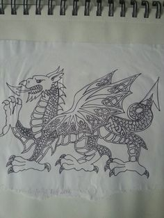 Art for dragon tattoo. Welsh and celtic