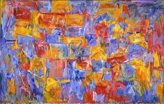 """JASPER JOHNS, """"Map,"""" 1961, oil on canvas, 78 × 123 1/8 inches (198.1 × 312.7 cm)"""