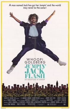 Jumpin' Jack Flash , starring Whoopi Goldberg, Stephen Collins, John Wood, Carol Kane. Terry works for a bank, and uses computers to communicate with clients all over the world. One day she gets a coded message from an unknown source... #Comedy #Romance #Thriller