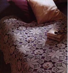 lovely crocheted bedspread pattern